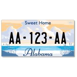 Plaque US PLEXIGLAS® 300x150mm - Alabama