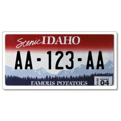 Plaque US PLEXIGLAS® 300x150mm - Idaho
