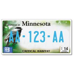 Plaque US PLEXIGLAS® 300x150mm - Minnesota