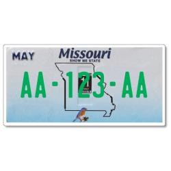 Plaque US PLEXIGLAS® 300x150mm - Missouri
