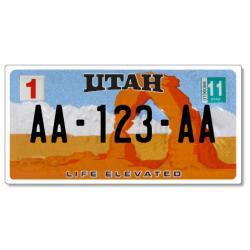 Plaque US PLEXIGLAS® 300x150mm - Utah