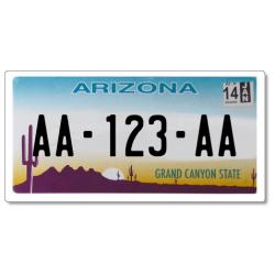 Plaque US PLEXIGLAS® 300x150mm - Arizona