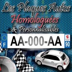 Plaque aluminium auto 275x200